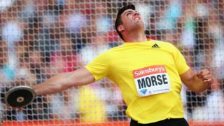 Brett Morse finished sixth in the discus at the Anniversary Games in London, which marked one year since the start of the 2012 Olympic Games.