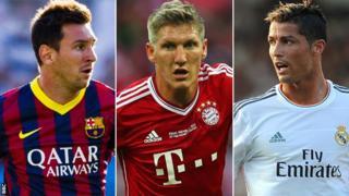 Lionel Messi, Bastian Schweinsteiger, Cristiano Ronaldo