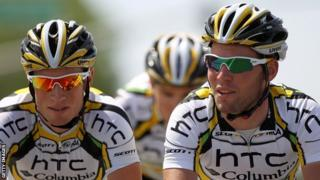 Mark Renshaw and Mark Cavendish at the new defunct HTC team
