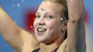 Ruta celebrates her second world record of the week