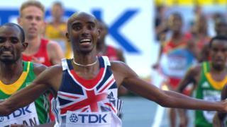Mo Farah wins 10,000m