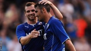 Gary Roberts celebrates scoring for Chesterfield