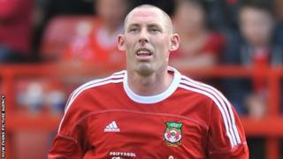 Wrexham defender Stephen Wright was sent-off