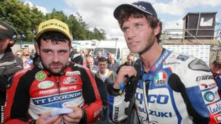 Michael Dunlop and Guy Martin