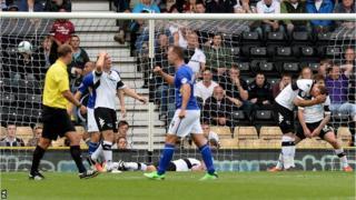 Derby concede a goal