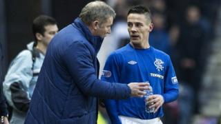 Rangers manager Ally McCoist and midfielder Ian Black