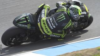 Cal Crutchlow competes in final free practice in Brno