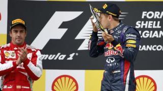 Fernando Alonso (left) and Sebastian Vettel