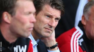 Michael Laudrup watches the Swans win at West Brom