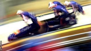 John Jackson's bobsleigh team