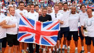 Great Britain celebrate Davis Cup victory