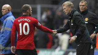 Wayne Rooney and David Moyes