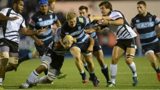 Cardiff Blues on their way to defeat against Zebre