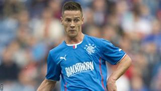 Rangers midfielder Ian Black