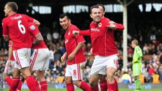 Cardiff's Jordon Mutch celebrates