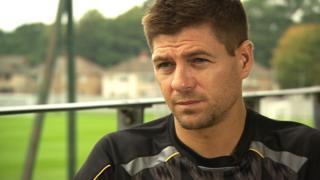 Steven Gerrard at Melwood training ground