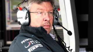 Ross Brawn of Mercedes