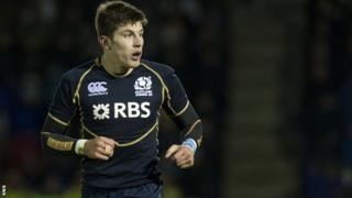 Tommaso Allan in action for Scotland's Under-20 team