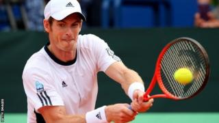 Andy Murray in action for Great Britain in the Davis Cup