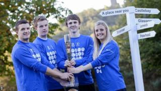 Athletes Russell Weir, Marc Austin, Ross Murdoch and Beverly Campbell