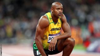 Jamaican sprinter Asafa Powell has tested positive for a banned substance