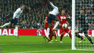 Wayne Rooney scores for England