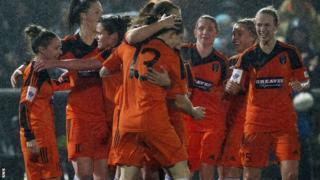 Glasgow City celebrate beating Standard Liege