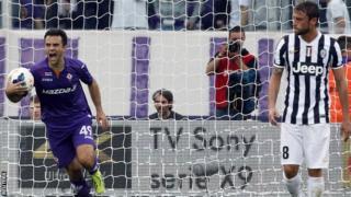 Fiorentina striker Giuseppe Rossi