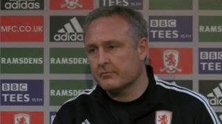 Boro caretaker manager Mark Venus