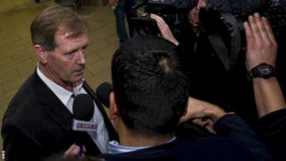 Dave King at Glasgow Airport