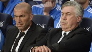 Real Madrid duo Zinedine Zidane and Carlo Ancelotti struggled against Barcelona