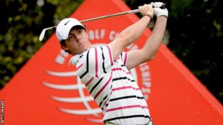 Rory McIlroy at the World Golf Championships event in Shanghai