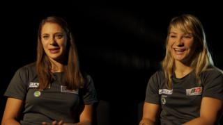 Miriam Welte and Kristina Vogel (L-R)