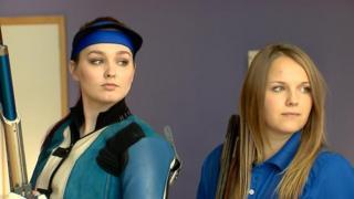 Jen McIntosh and Sian Bruce, Scotland shooters