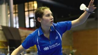 Scottish badminton player Kirsty Gilmour