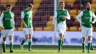 Hibs lost 1-0 at Motherwell