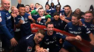 Oldham players celebrate