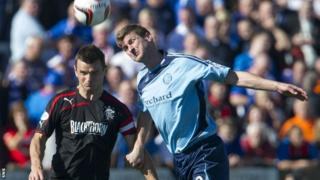 Rangers' Lee McCulloch and Forfar's Chris Templeman