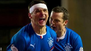 Lee McCulloch and Jon Daly celebrate