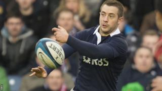 Scotland's Greig Laidlaw playing against Japan