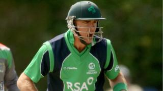 Ireland's Trent Johnston scored an unbeaten 39 against Canada