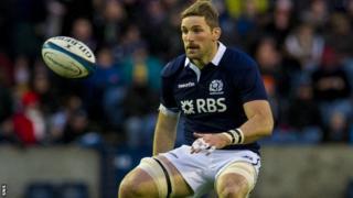 Scotland's John Barclay playing against Japan