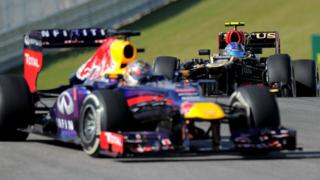 Red Bull Racing's Sebastian Vettel seals an historic eight consecutive victory by winning the United States Grand Prix