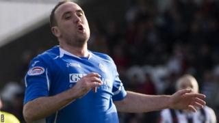 Lee Croft in action for St Johnstone