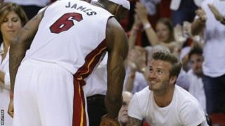 LeBron James and David Beckham