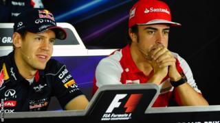 Sebastian Vettel (left) and Fernando Alonso