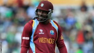 West Indies batsman Chris Gayle hamstring injury