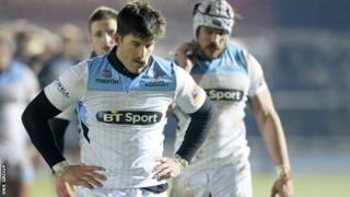 Glasgow lost 23-8 to Dragons at Scotstoun