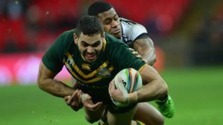 Australia take on Fiji at Wembley