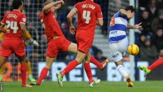 QPR striker Charlie Austin scores against Charlton